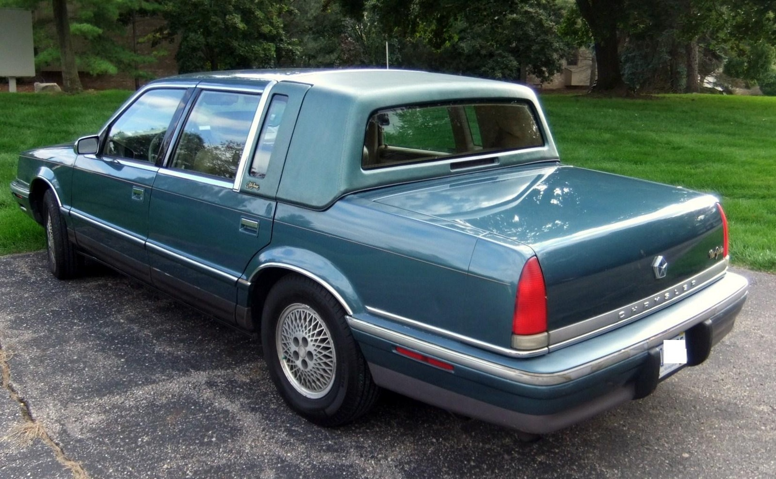 Chrysler new yorker technical specifications and fuel economy for 1993 chrysler new yorker salon sedan
