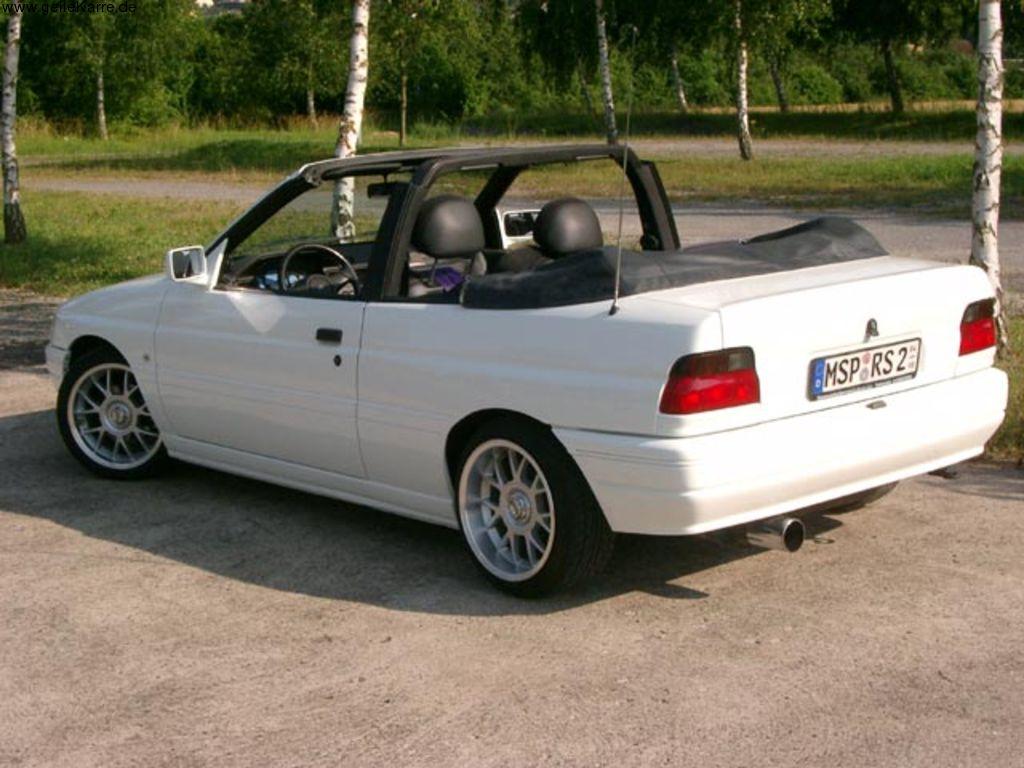 ford - escort vi cabrio (all) - 1.6 i 16v (90 hp)