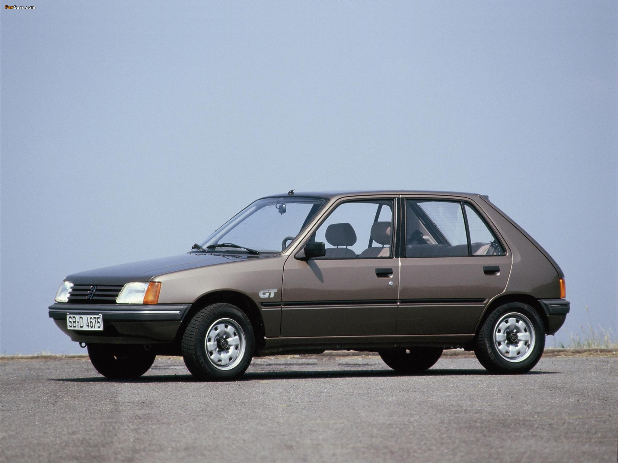 Peugeot 205 I (741A/C) 1.1 (49 Hp) Technical specifications and