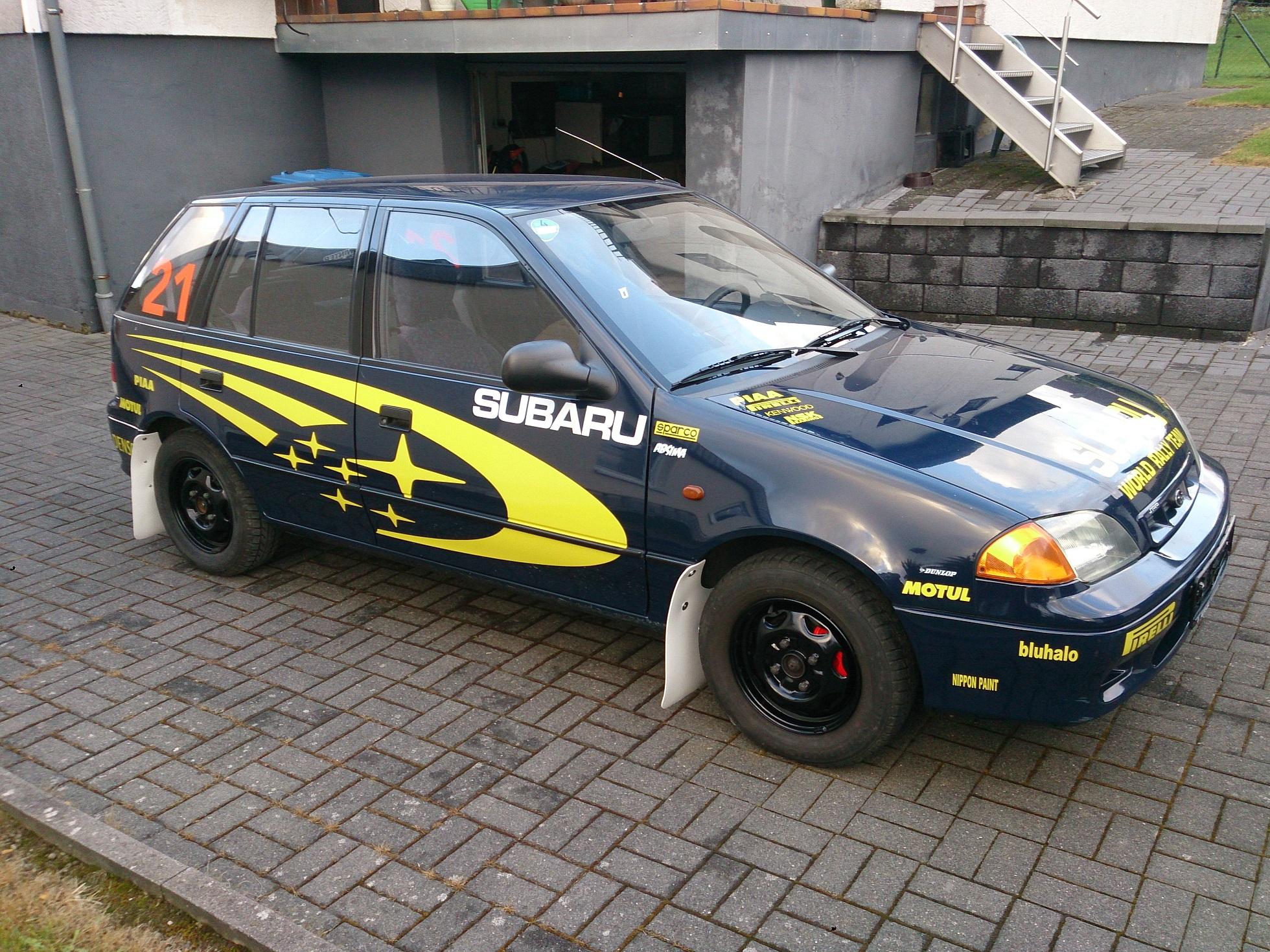 Suzuki Tire Size >> Subaru Justy II (JMA,MS) 1.3 i 4X4 (3 dr) (85 Hp)