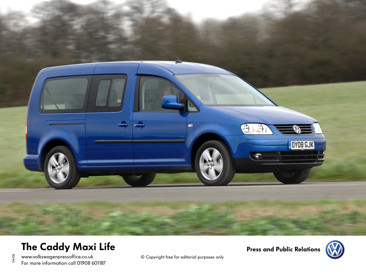 volkswagen caddy maxi life 1 9 tdi 105 hp 4motion. Black Bedroom Furniture Sets. Home Design Ideas